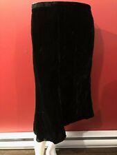 APOSTROPHE Women's Black Velvet Lined Skirt - Size 12 - NWT $36