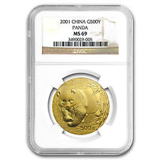 2001 China 1 oz Gold Panda MS-69 NGC - SKU #80129