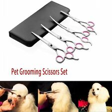High quality Stainless Steel Premium Curved Scissor Set for Dog Cat Pet Grooming