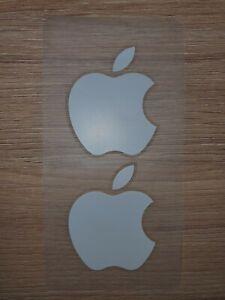 2 x Genuine Brand New Original White Apple Logo Stickers iPad, iPhone, iMac.