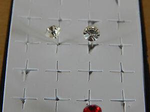 Crystal Earring Stud 925 Sterling Silver ***UK SELLER***