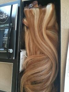 """Zala Hair Clip in hair Extensions 9pce """"sunkissed"""" Worn once. 14ins triple weft."""