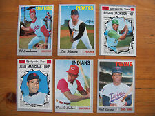 1970 TOPPS BASEBALL LOT OF 6 CARDS STARS & HI'S EX-EXMT CONDITION