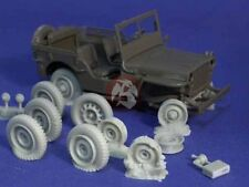 Resicast 1/35 Blown & Burnt Out Tires Willys MB Jeep (6 different wheels) 352262