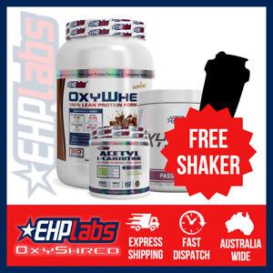 EHPlabs OxyShred + OxyWhey + Acetyl L-Carnitine | Bundle | FREE Shaker&Shipping