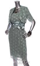 NEW R&M RICHARDS Women Spangle Lace Ribbon Bolero Dress Suit 2-PC Set Mint Sz 8P