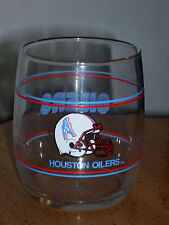 Houston Oilers NFL Old Fashion Rocks Bar 90's Gas Station Giveaway Glass-NEW