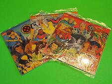 Food Ave 1994 Marvel X-Men Hero Caps Game Cards - Complete set of 3 *MIP*
