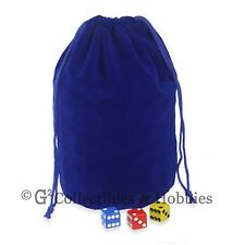 NEW Extra Large Blue Velveteen Dice Bag RPG D&D 8x7.5 Pouch