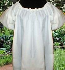 Cotton Chemise Blouse Renaissance Short Sleeves Costume Halloween Dickens Pirate