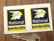 NATIONAL LAMBRETTA Stil Sticker GP Li Tv usw. Benzol