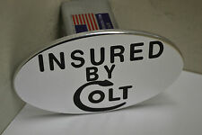 hitch cover,insured by colt,chevy, ford,H2,DODGE,colt guns