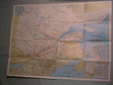 QUEBEC WALL MAP THE MAKING OF CANADA National Geographic March 1991 MINT