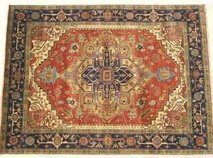INDIA HAND KNOTTED HERIZ SERAPI PERSIAN ORIENTAL AREA RUG WOOL CARPET RUGS