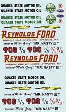 Mike Gray Reynolds Ford Mr Nasty III Thunderbolt '64 1/64th HO Decals