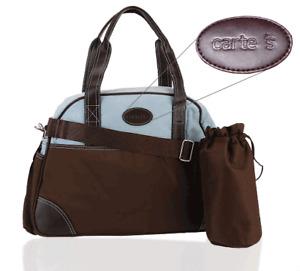 Carter's CA1441 Ultimate Diaper Bag - Brown / Blue