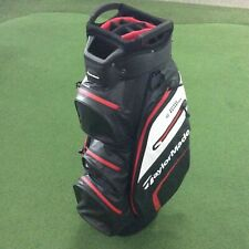 TaylorMade Deluxe Waterpoof Golf Cart Bag - Black/white/red