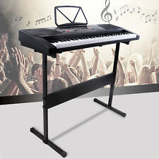 Suncoo 61 Key Black Music Electronic Keyboard Digital Piano Organ with Stand