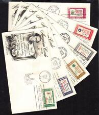 1960 Credo set of 6 Sc 1139-44 FDCs Fleetwood premium cachets