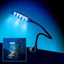 Moisture Resistant LED Aquarium Fish Tank Clip on Clamp Moon Light DAYLIGHT