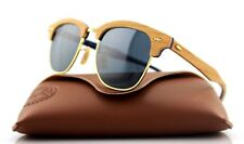 NEW Authentic RAY-BAN CLUBMASTER WOOD Brown Blue Grey Sunglasses RB3016M 1180/R5