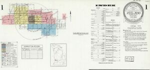 Zeeland, Michigan~Sanborn Map©sheets~made~ 1889 to 1944~34 maps in color on CD