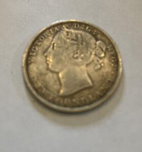 1900 Newfoundland Silver Twenty Cents Canada Queen Victoria -