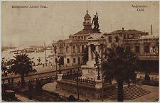 Valparaíso Chile postal 1920 postal sudamérica Arturo Prat Monument