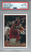 2003-04 Topps Collection Lebron James Rookie #221 Cleveland Cavaliers PSA 8