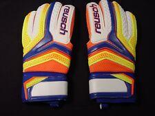 NEW Reusch Soccer Goalie Gloves Serathor SG #3770815S Blue&Yellow SZ 9 SAMPLES
