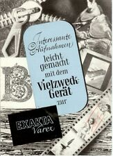 Prospekt EXAKTA VAREX Interessante Aufnahmen German