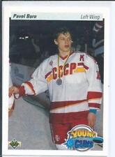 1990-91 Upper Deck Hockey #526 Pavel Bure Young Guns RC Rookie Card Canucks