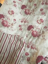 WAVERLY Garden Room Norfolk Rose - General Store Stripe King Comforter