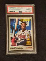 Braves Ronald Acuna Jr 2019 Topps Heritage RC Rookie Card PSA 10 #500 gem mint