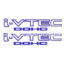 BLUE I-VTEC DOHC STICKER X2 DECAL EMBLEM CIVIC S2000 ACCORD JDM IMPORT ILLEST