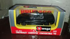 Modellino Chevrolet Corvette Convertible '98, Burago 1:43 made in Italy