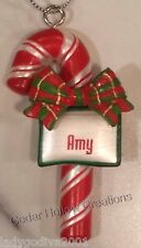 Personalized Candy Cane Ornament - Amy - FREE Shipping