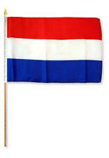 "12x18 12""x18"" Netherlands Holland Stick Flag wood staff"