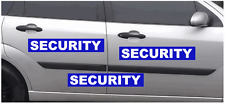3 x LARGE MAGNETIC SECURITY SIGNS                (s444)