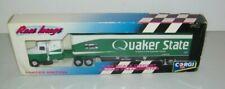 Vintage Corgi Brett Bodine NASCAR Quaker State Oil Race Image Team Transporter