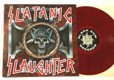 SLATANIC SLAUGHTER COMP LP RED SMOKEY VINYL 1995 DEATH BLACK METAL THRASH