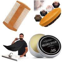Beard Brush _ Beard Balm _ Beard Comb _ Apron _ Beard Care Grooming Beard Kit