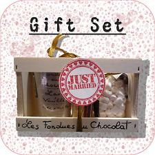 """""""appena sposato"""" Cioccolato Fonduta + MINI MARSHMALLOW Gift Set Matrimonio OMAGGIO WP1"""