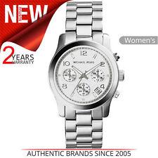 Michael Kors Runway Reloj Mujer │ Cronógrafo Esfera │ Tono Plateado Brazalete │