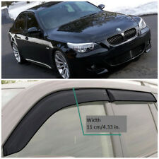 BE21302 Window Visors Sun Guard Vent Wide Deflectors For BMW 5 Sd E60 2002-2010