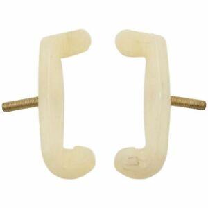 2Pcs Violin 3/4 and 4/4 Size Violin Adjustable Shoulder Rest Rubber Feet Musical