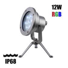 "12V RGB LED UNDERWATER / PAESAGGIO LIGHT-IP68 colori cangianti 12 W - 6 """
