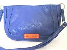 New JOE BOXER Midnight Blue Faux Pebbled Leather Shoulder Handbag CUTE