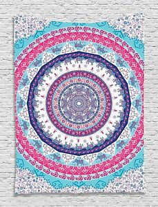 Ethnic Zen Circle Pattern Tapestry Wall Hanging for Living Room Bedroom Decor