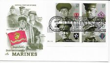US Scott #3961-64, First Day Cover 11/10/05 Washington Plate Block Marines